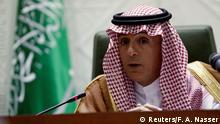Saudi-Arabien Riad - saudische Außenminister Adel al-Dschubeir