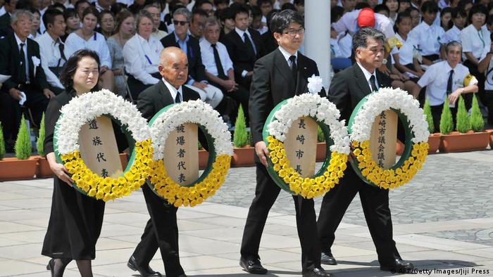 Gedenken an Atombomben-Angriff auf Nagasaki (AFP/Getty Images/Jiji Press)