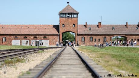 Train tracks leading to the Auschwitz-Birkenau concentration camp (picture-alliance/dpa/J. Woitas)