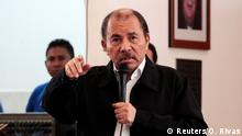 Nicaragua's President Daniel Ortega speaks during the first round of dialogue after a series of violent protests against his government in Managua, Nicaragua May 16,2018. Picture taken May 16, 2018. REUTERS/Oswaldo Rivas