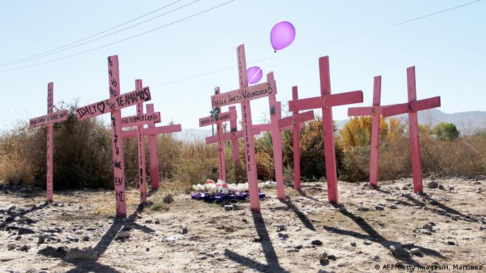 Gedenken an ermordete Frauen in Ciuadad Juarez, Mexiko