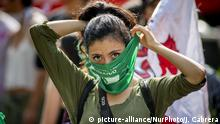 Mexiko Demonstration für Recht auf Abtreibung in Argentinien