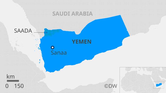 Karte Jemen Saada EN