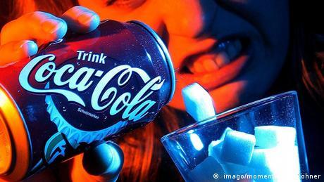 Hoher Zuckergehalt in Coca Cola
