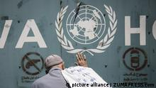 Palästina, Gaza: Proteste am UNRWA Gebäude