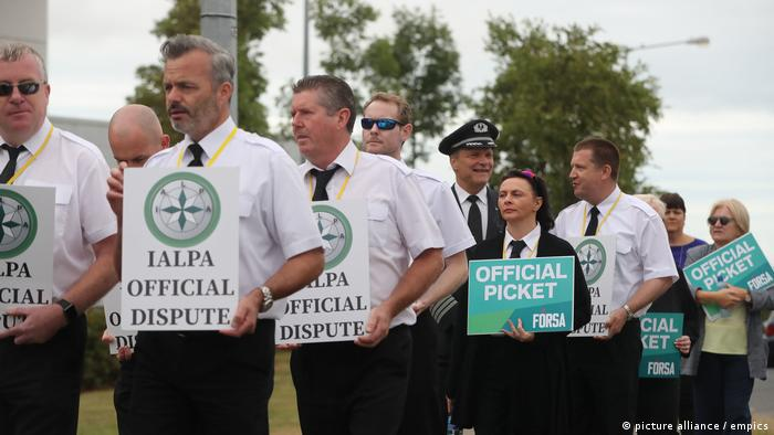 Irish Ryanair pilots on strike (picture alliance / empics)