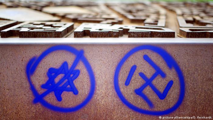 Deutschland Hakenkreuz und ein durchgestrichener Davidstern