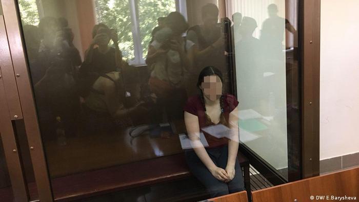 Подозреваемая по делу о Новом величии Анна Павликова в зале суда