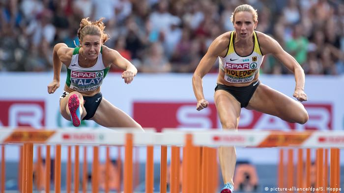 Deutschland, Berlin: EM - Leichtathletik Cindy Roleder (picture-alliance/dpa/S. Hoppe)