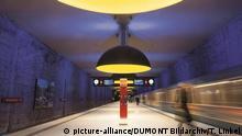Deutschland München U-Bahnhof Westfriedhof