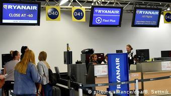 Ryanair-Streik Flughafen Schönefeld (picture alliance/dpa/B. Settnik)