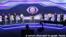 TV-Duell Präsidentschaftskandidaten Brasilien