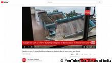 Screenshot Youtube Haueinsturz in Bankura, Indien