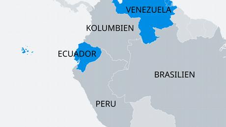 Karte Lateinamerika Venezuela Ecuador DE