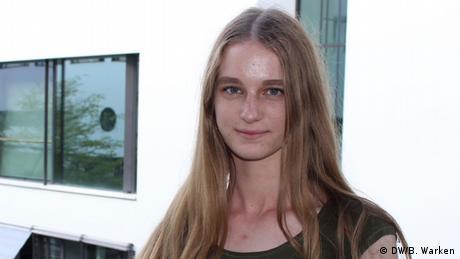 Porträtfoto der Deutschlernerin Verena aus Rumänien (DW/B. Warken)