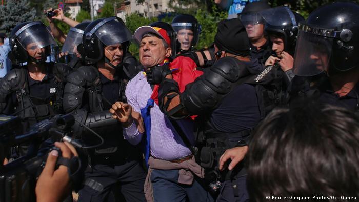 Rumänien Bukarest Proteste gegen die Regierung (Reuters/Inquam Photos/Oc. Ganea)