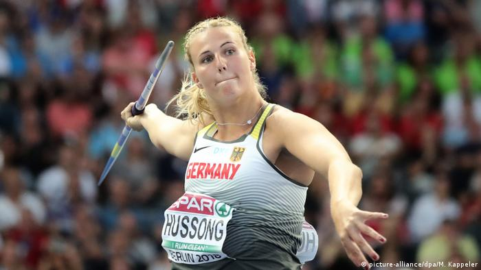European Championships Speerwurf in Berlin Leichtathletik Christin Hussong (picture-alliance/dpa/M. Kappeler)