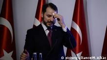 Türkei, Istanbul: Finanzminister Berat Albayrak hält Ansprache