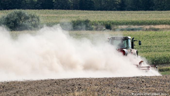 A dry field in Saxony