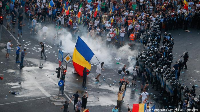 Proteste in Rumänien (Foto: Reuters)
