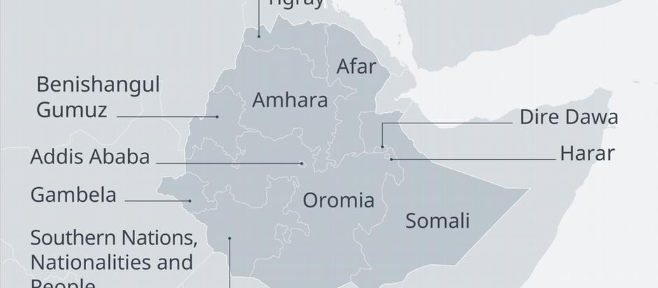 Karte Äthiopien Ethnien EN