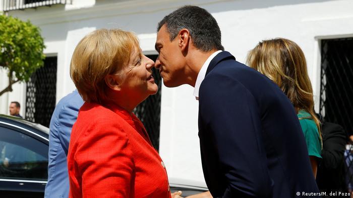 Merkel trifft Spaniens Premier Pedro Sanchez