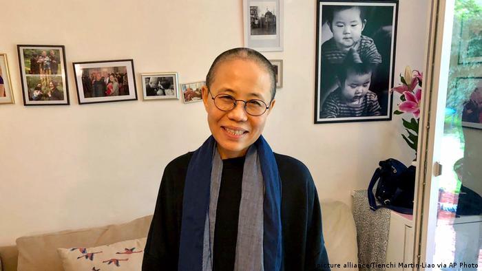 Liu Xia, the widow of Nobel Peace Prize laureate Liu Xiaobo, stands in a residence in Berlin.