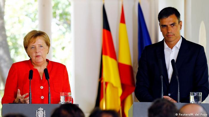 Merkel trifft Spaniens Premier Pedro Sanchez (Reuters/M. del Pozo)