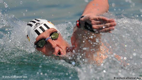 Schwimmer Thomas Lurz bei der Schwimm-WM in Rom 2009 (Foto: picture-alliance/dpa)