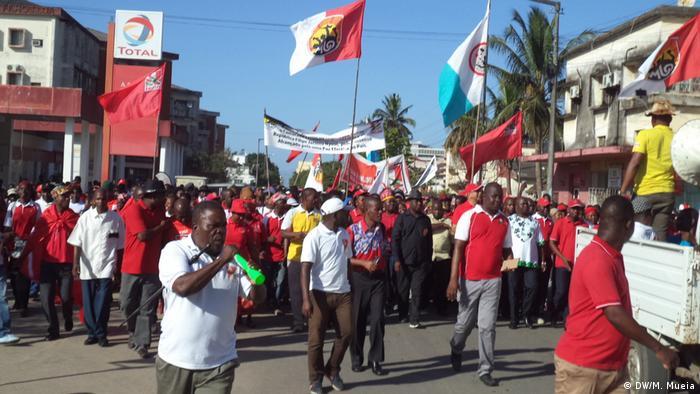 Demonstration Wahlen Quelimane Mosambik