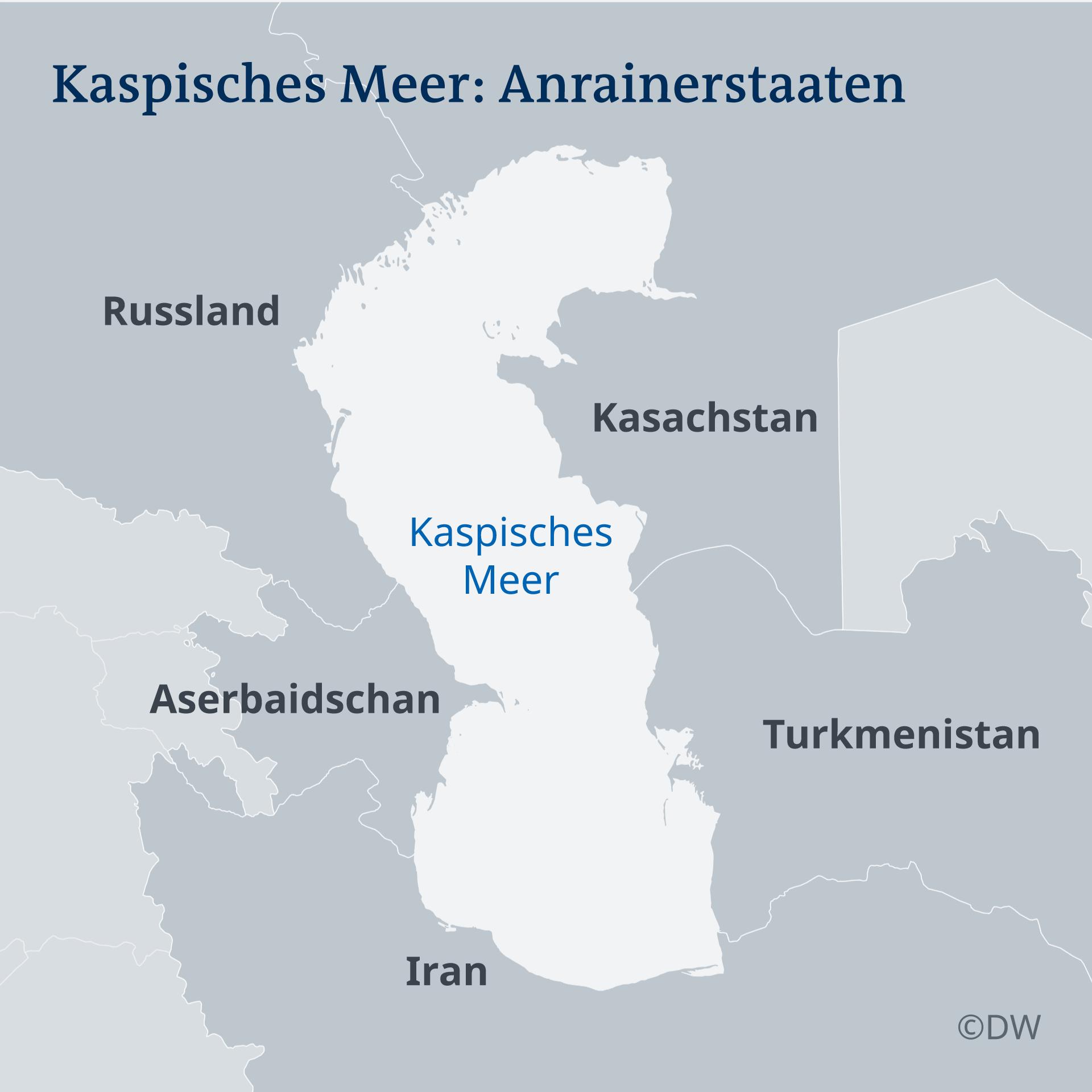 Karte Kaspisches Meer DE