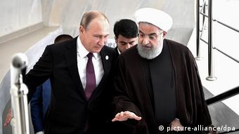 دیدار روحانی و پوتین در اوکتائو قزاقستان