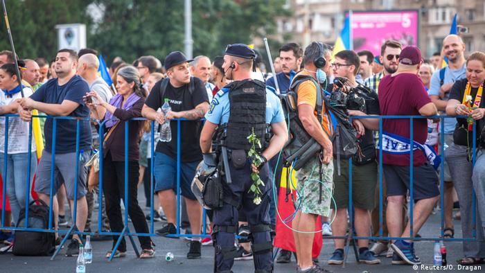Jandarmii la protestele din august 2018