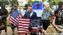 USA, Washington: Demonstrationen zum Charlottesville-Jahrestag