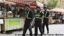 China Polizei in der autonomen Region Xinjiang