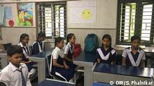 Indien Glücklich sein in der Schulkasse