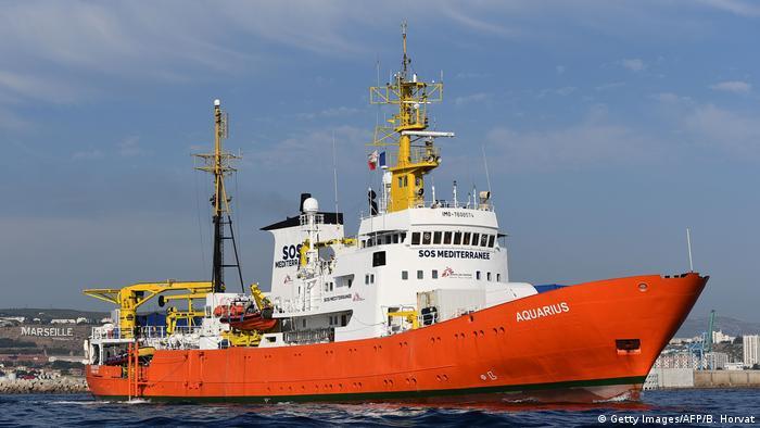 Судно Aquarius покидает порт Марселя 1 августа
