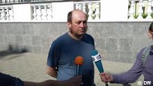 10.08.2018 DW-Korrespondent Pavljuk Bykovski nach seiner Entlassung aus der U-Haft in Minsk, am 10.08.2018