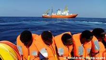 Migrants are rescued by SOS Mediterranee organisation and Doctors Without Borders