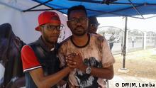 12.08.2018 Angola - Rapper MCK Angolanische Rapper Mente Mágica (links) und MCK(rechts). MCK hat ein neues Album veröffentlicht, Valores.