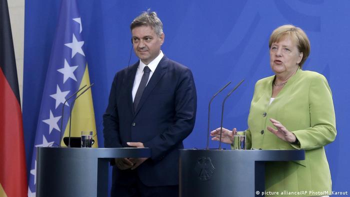 Merkel empfängt Zvizdic