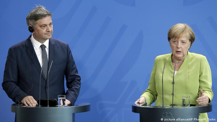 Denis Zvizdić i Angela Merkel u Berlinu 2018.