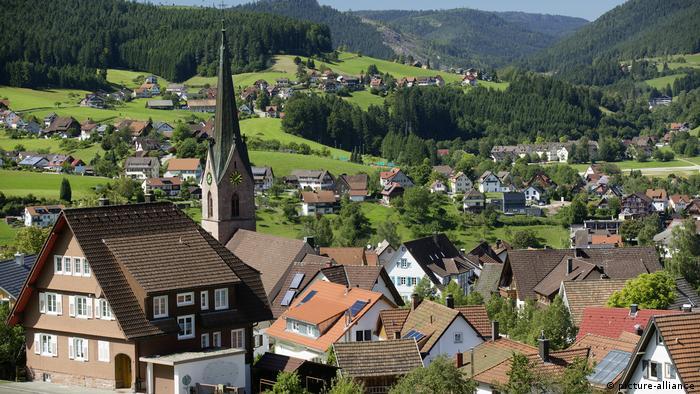 Vista do vilarejo de Baiersbronn