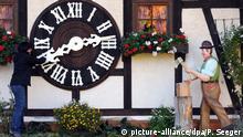 Deutschland Schwarzwald - Zeitumstellung an Kuckucksuhr