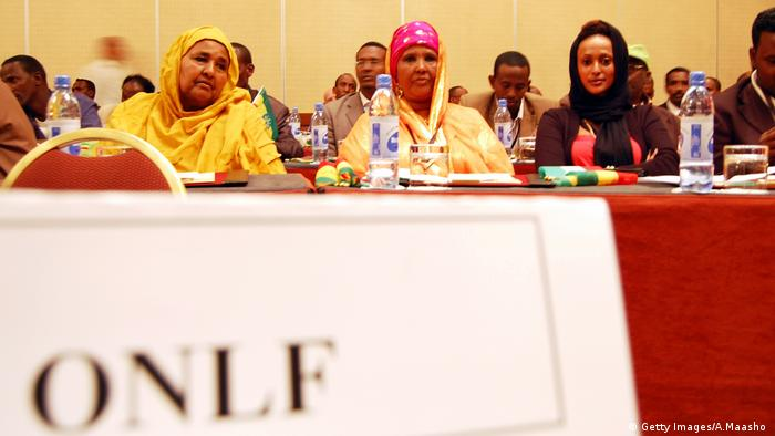 Members of the ONLF attend a ceremony to sign a peace deal in 2010