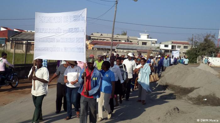 Mosambik, Arbeiter aus Quelimane streiken