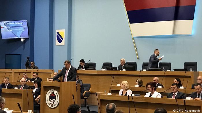 Bosnien und Herzegowina, Präsident der Serbische Republik, Milorad Dodik im Parlament