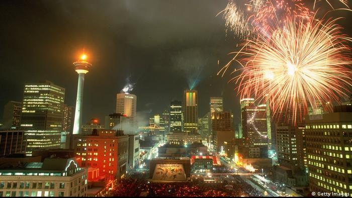 Fireworks adorn Calgary's skyline