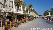 Promenade in Split, Kroatien Foto: DW-Korrespondentin Nikolina Tomasovic Bock