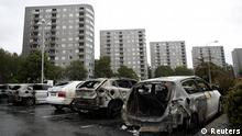 Burned cars in Gothenburg, Sweden (Reuters)